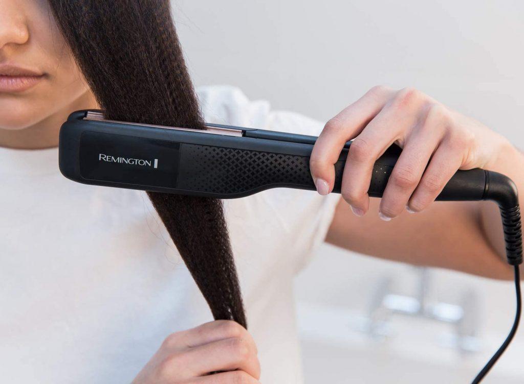 plancha de pelo para hacer trencitas